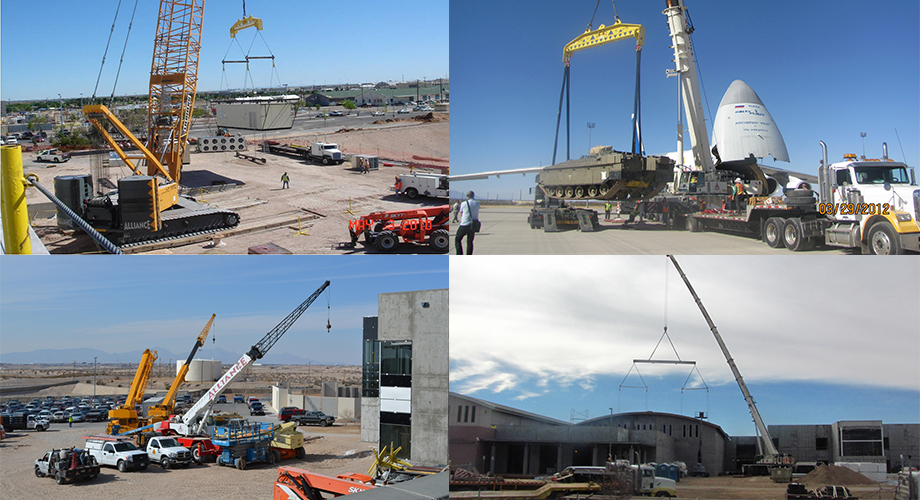 A few examples of crane lifting services from Alliance Riggers